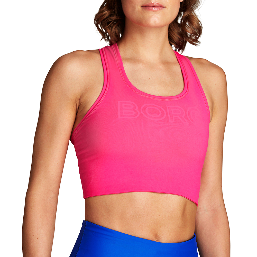 Solid Shelby Logo Bra Top - Pink
