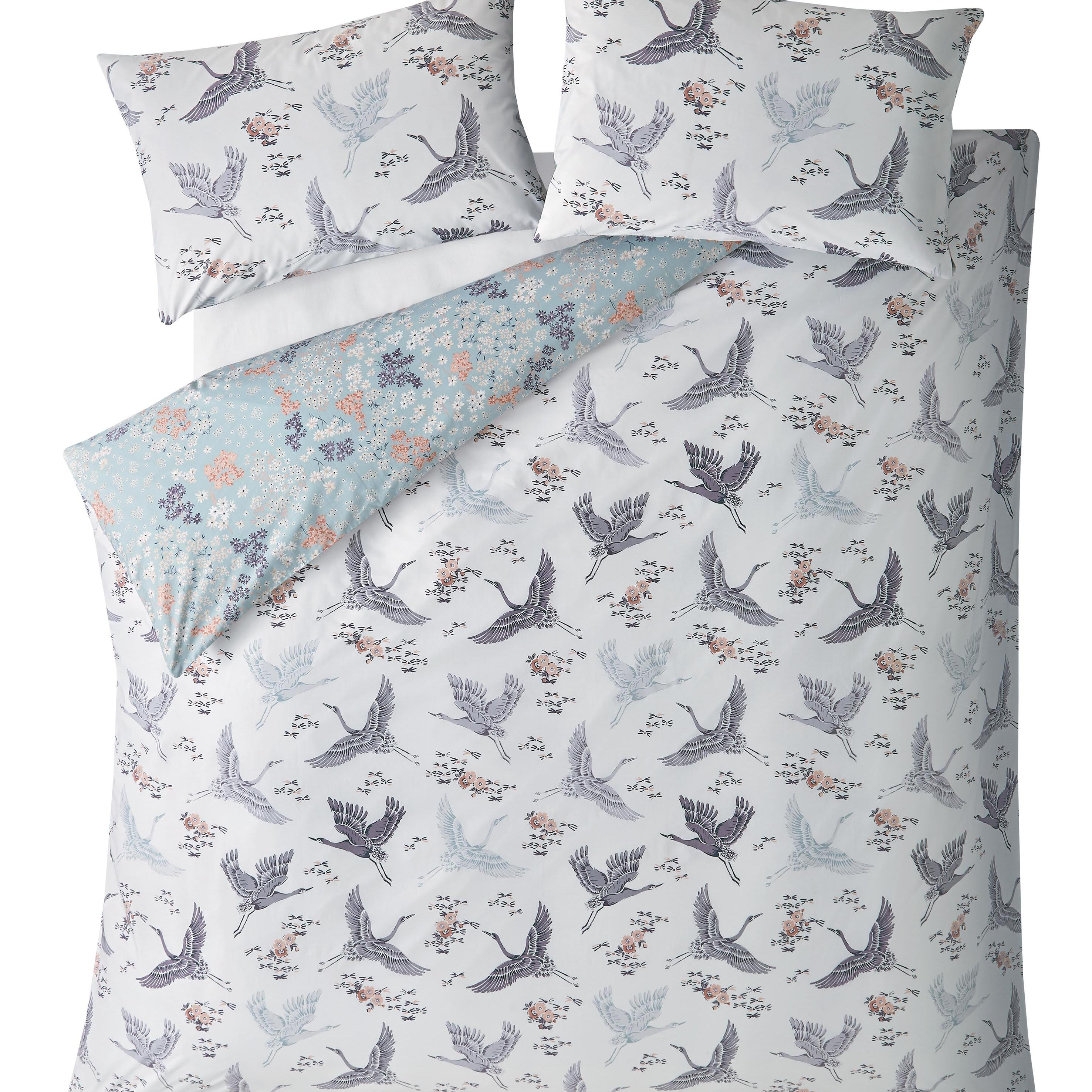 FLORAL FLIGHT IRIS DOUBLE DUVET COVER