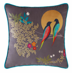 BIRDS AT DUSK DARK GREY CUSHION