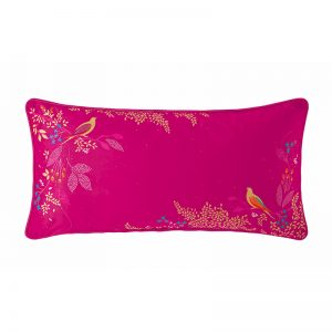 CERISE BIRDS PINK CUSHION