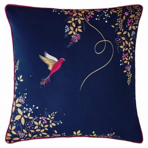 HUMMINGBIRD NAVY CUSHION