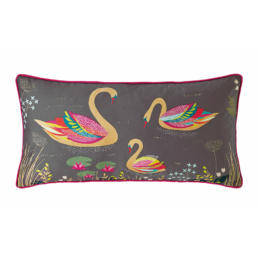 SWAN DARK GREY  CUSHION 30X60