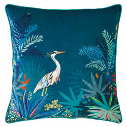 HERON TEAL CUSHION