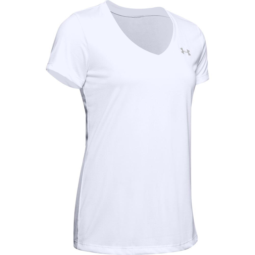 TECH SHORT SLEEVE V-NECK - WHITE