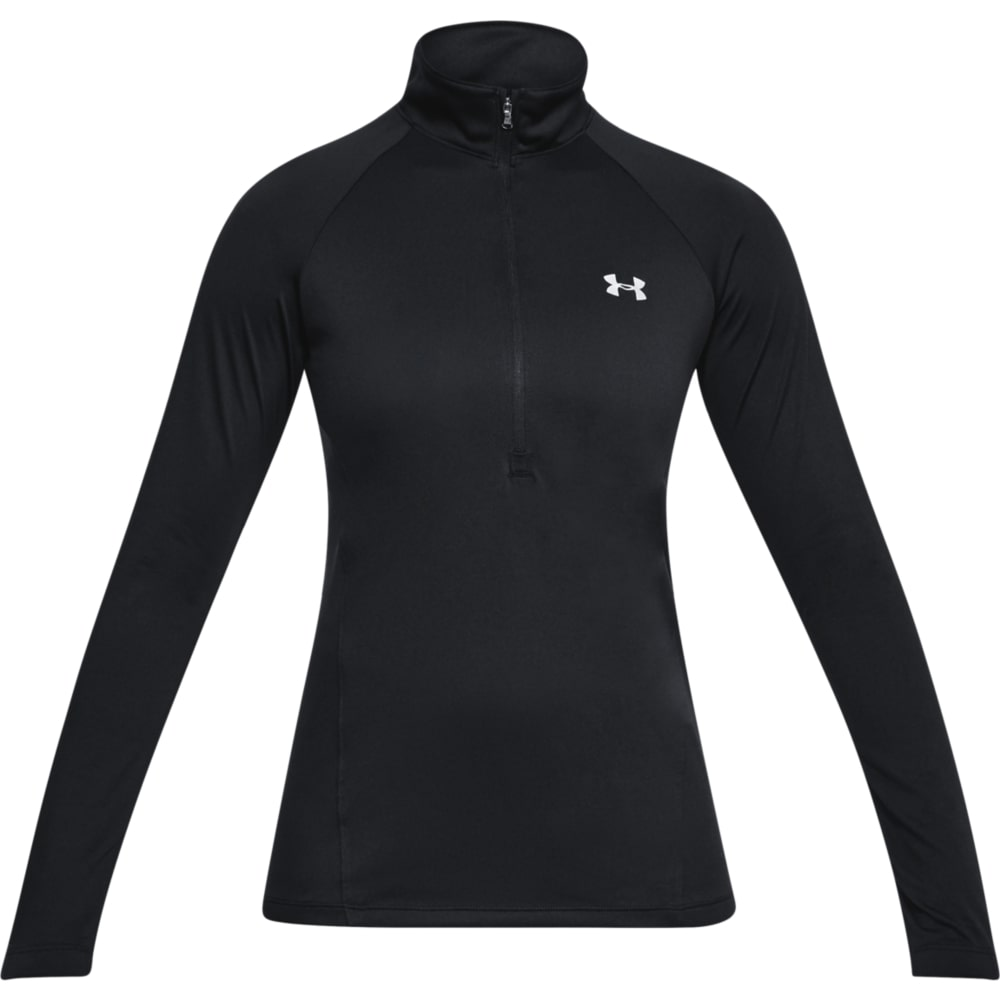 TECH 1/2 ZIP LONG SLEEVE TRAINING TOP - BLACK