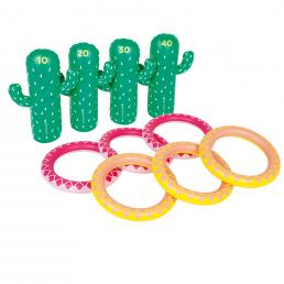 INFLATABLE RING TOSS SET - CACTUS