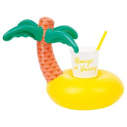 INFLATABLE DRINK HOLDER TROPICAL ISLAND