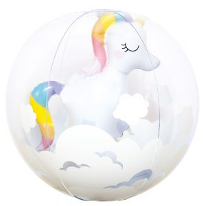 3D INFLATABLE BEACH BALL UNICORN