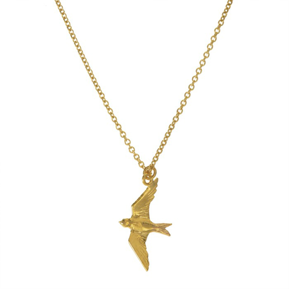 FLYING SWALLOW NECKLACE GOLD
