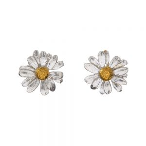 DAISY STUD EARRINGS GOLD & SILVER