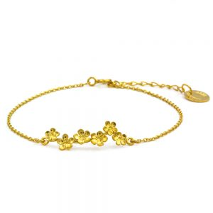 FORGET ME NOT BRACELET GOLD