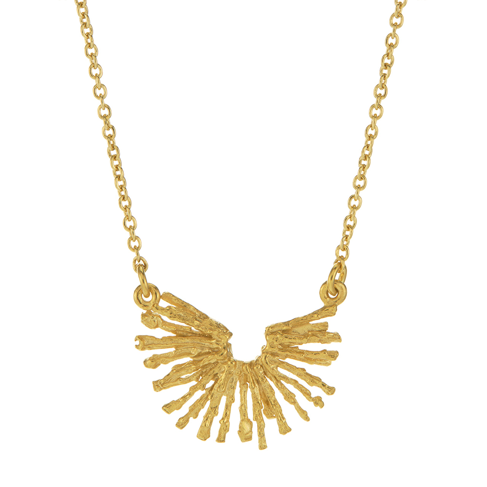 NEST STRUCTURE HALF CIRCLE NECKLACE GOLD