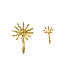 ASYM DANDELION FLUFF STUD EARRINGS GOLD