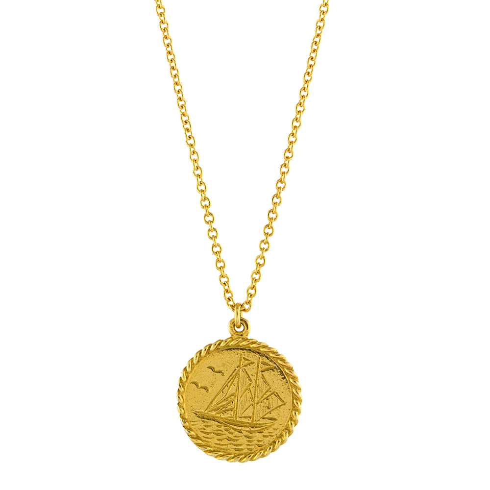 SAILORS AT SEA COIN NECKLACE GOLD