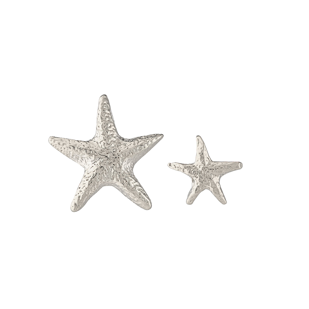 ASYNM STARFISH STUD EARRING SILVER