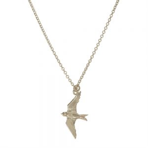 FLYING SWALLOW NECKLACE SILVER