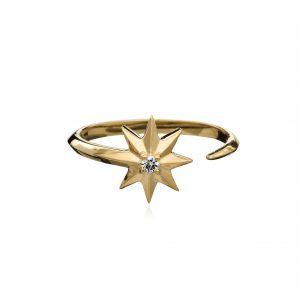 SHOOTING STAR DIAMOND RING - GOLD