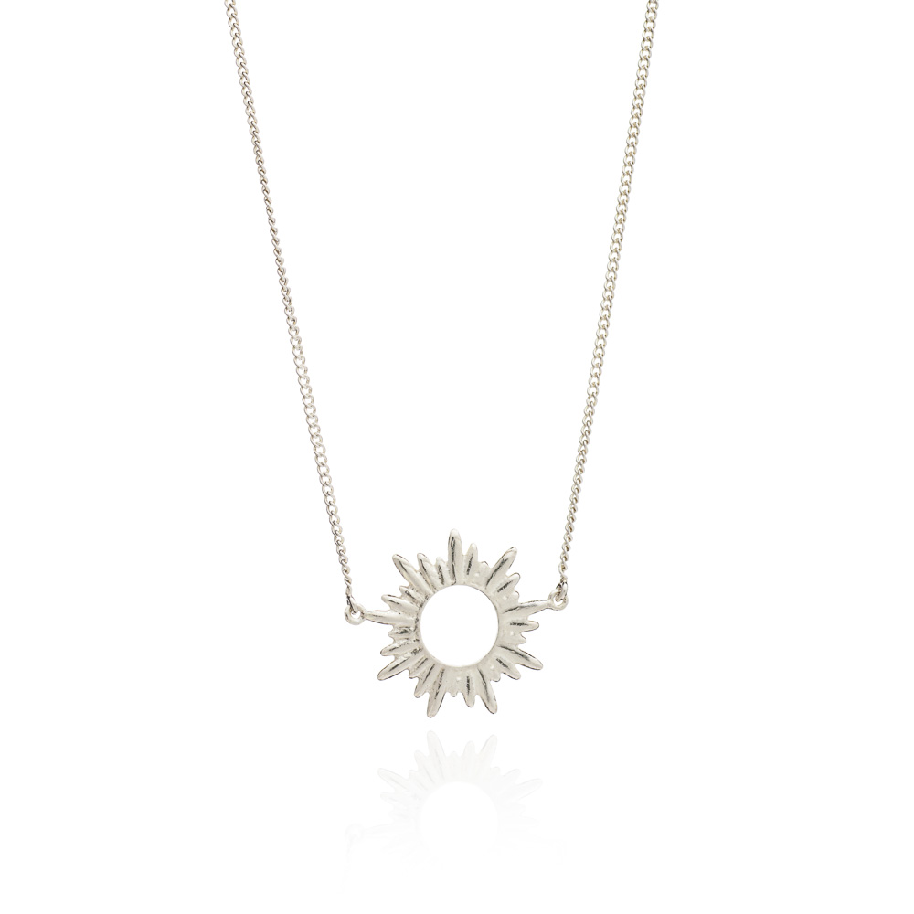 SUNRAYS SMALL STERLING SILVER NECKLACE