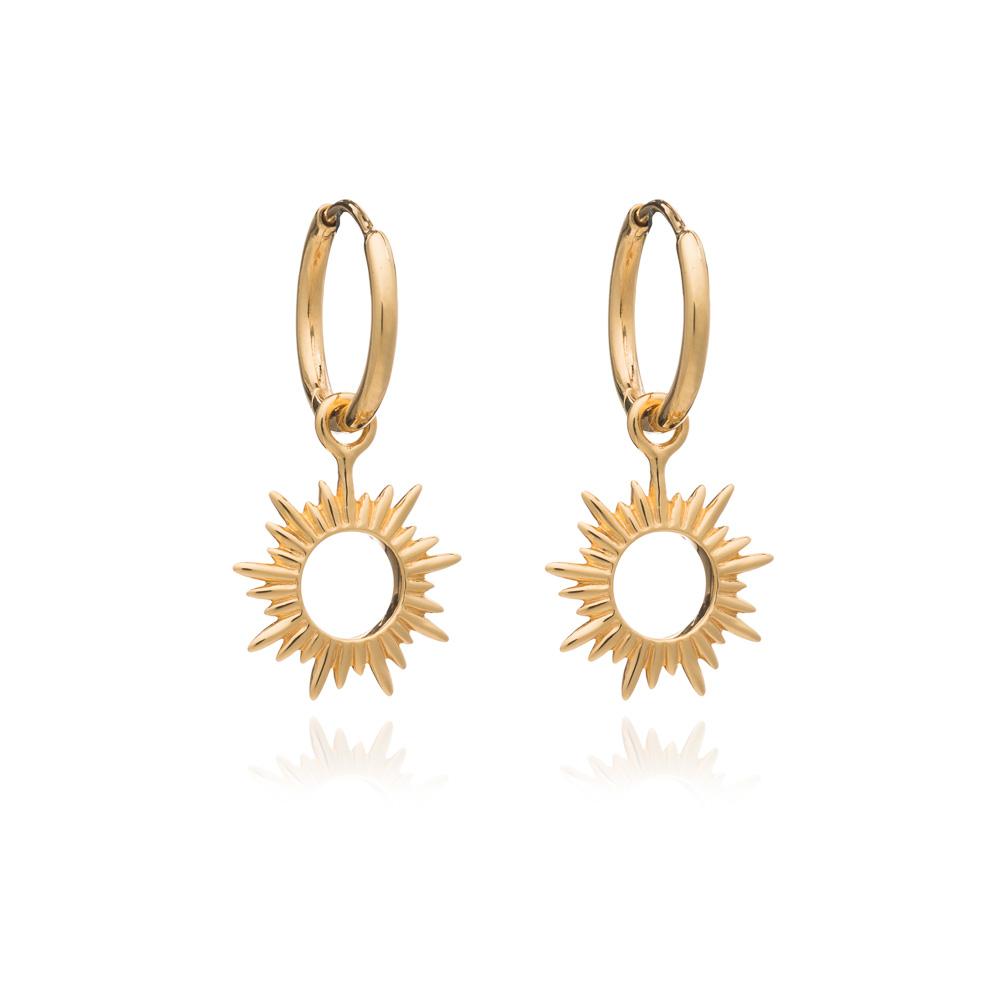 ETERNAL SUN MINI HOOP EARRINGS - GOLD