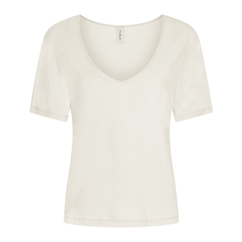 HOLLY V NECK TEE - IVORY