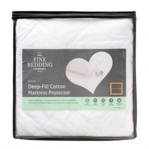 Deep Fill Cotton Mattress Protector Single