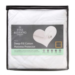 Deep Fill Cotton Mattress Protector Double
