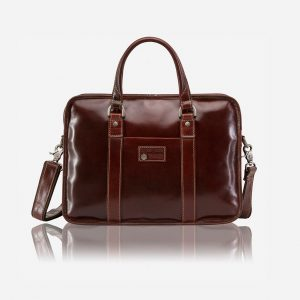 "Oxford Large 15"" Laptop Briefcase - Tobacco"