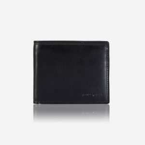 Oxford Medium Wallet With Coin Pouch - Black
