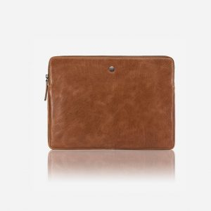 "New York 15"" Zip Around Laptop Folder - Tan"