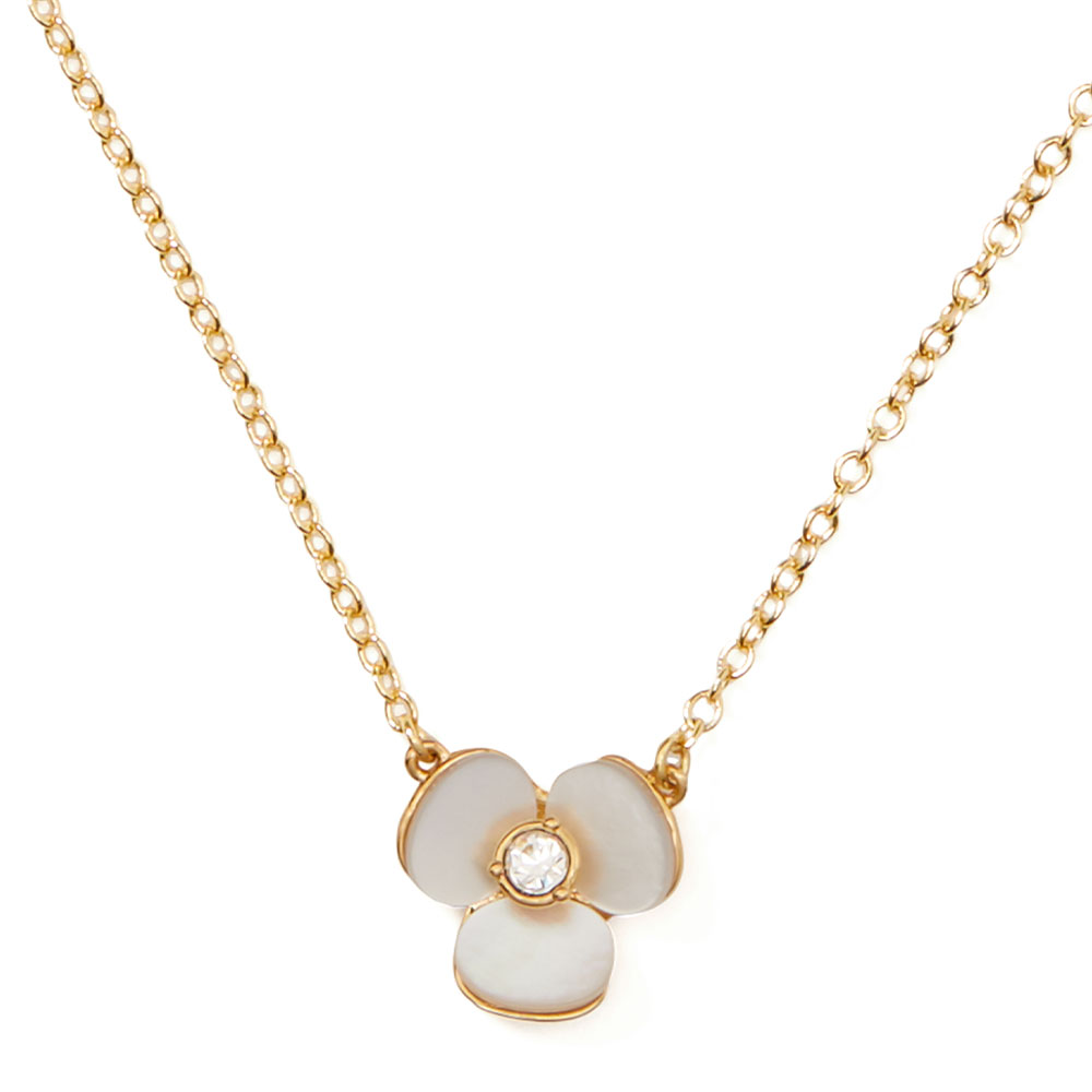DISCO PANSY MINI PENDANT NECKLACE - ROSE GOLD