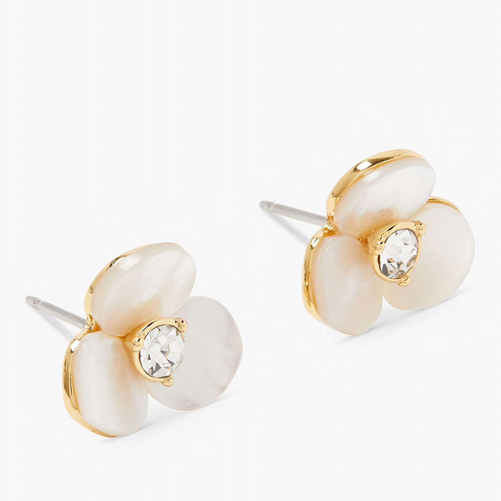 DISCO PANSY STUD EARRINGS - GOLD