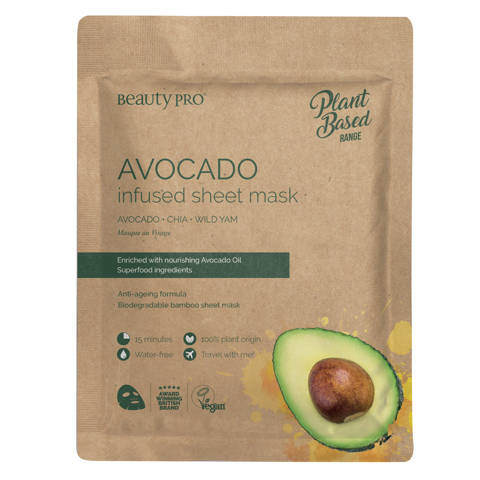 AVOCADO Infused Sheet Mask 22ml