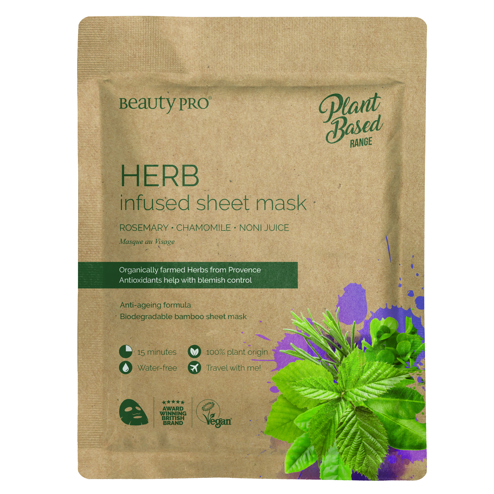 HERB INFUSEDSheet Mask 22ml