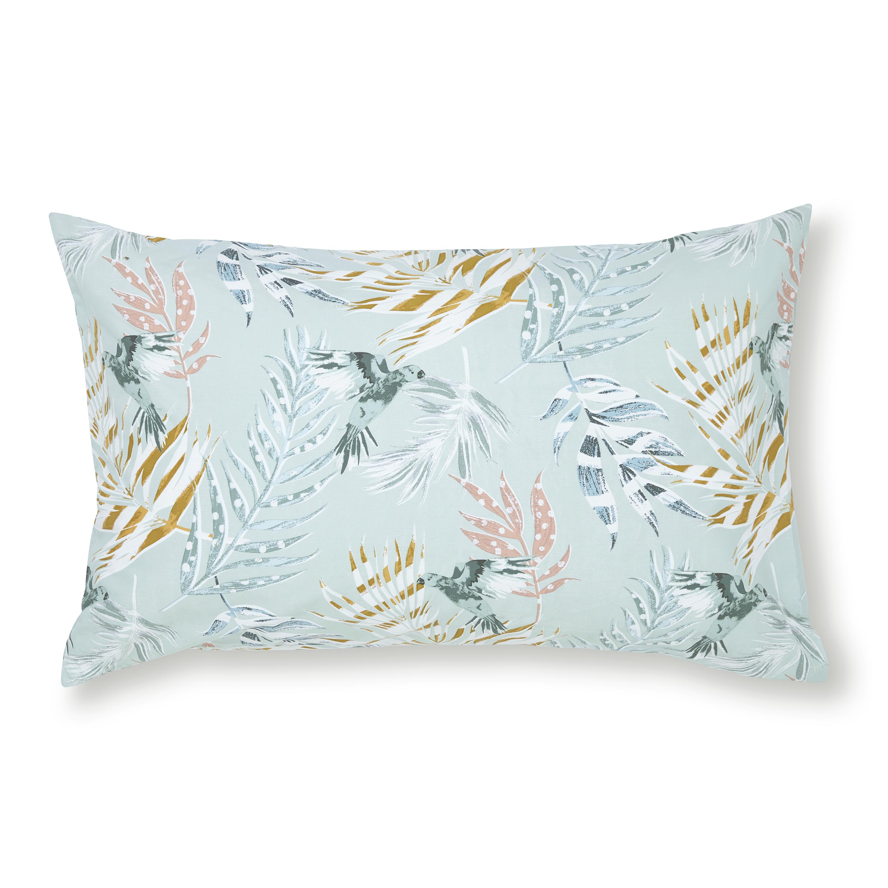PARADISE PARROT STANDARD PILLOWCASE PAIR - SPEARMINT