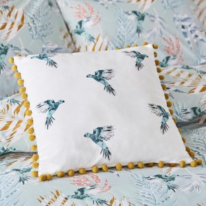 PARADISE PARROT OYSTER CUSHION