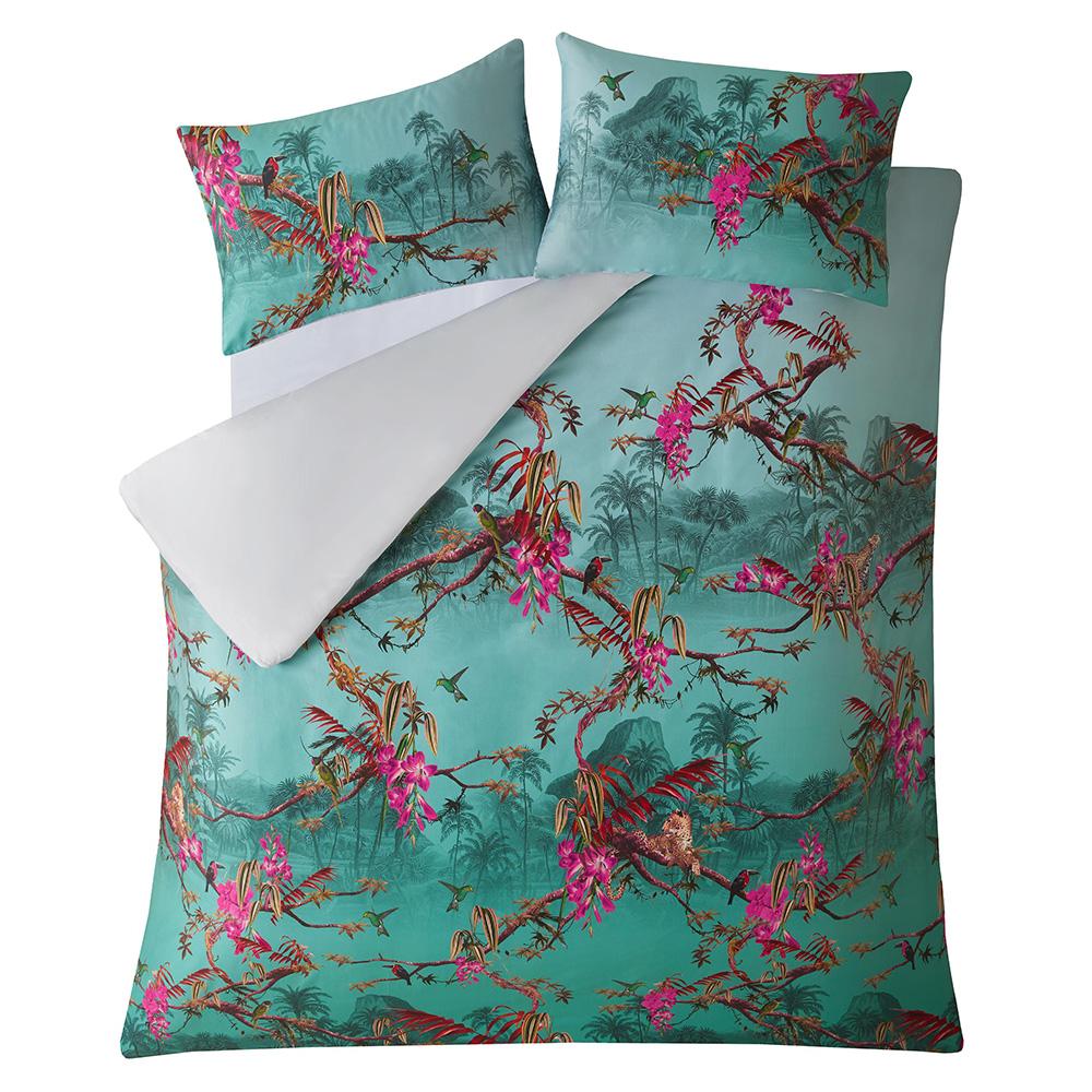 Ted Baker Bedding Hibiscus Jade Double Duvet Cover Voisins Department Store