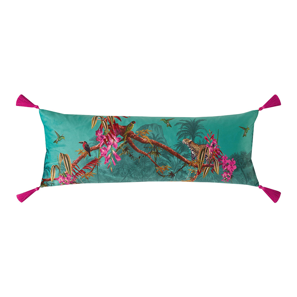 Ted Baker Bedding Hibiscus Jade Cushion 30x80cm Voisins Department Store