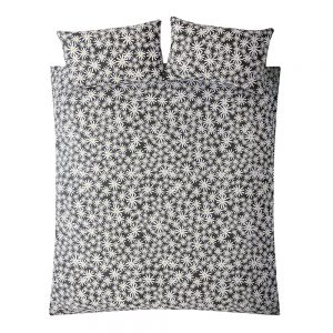 DAISY KING QUILT SET - CHARCOAL