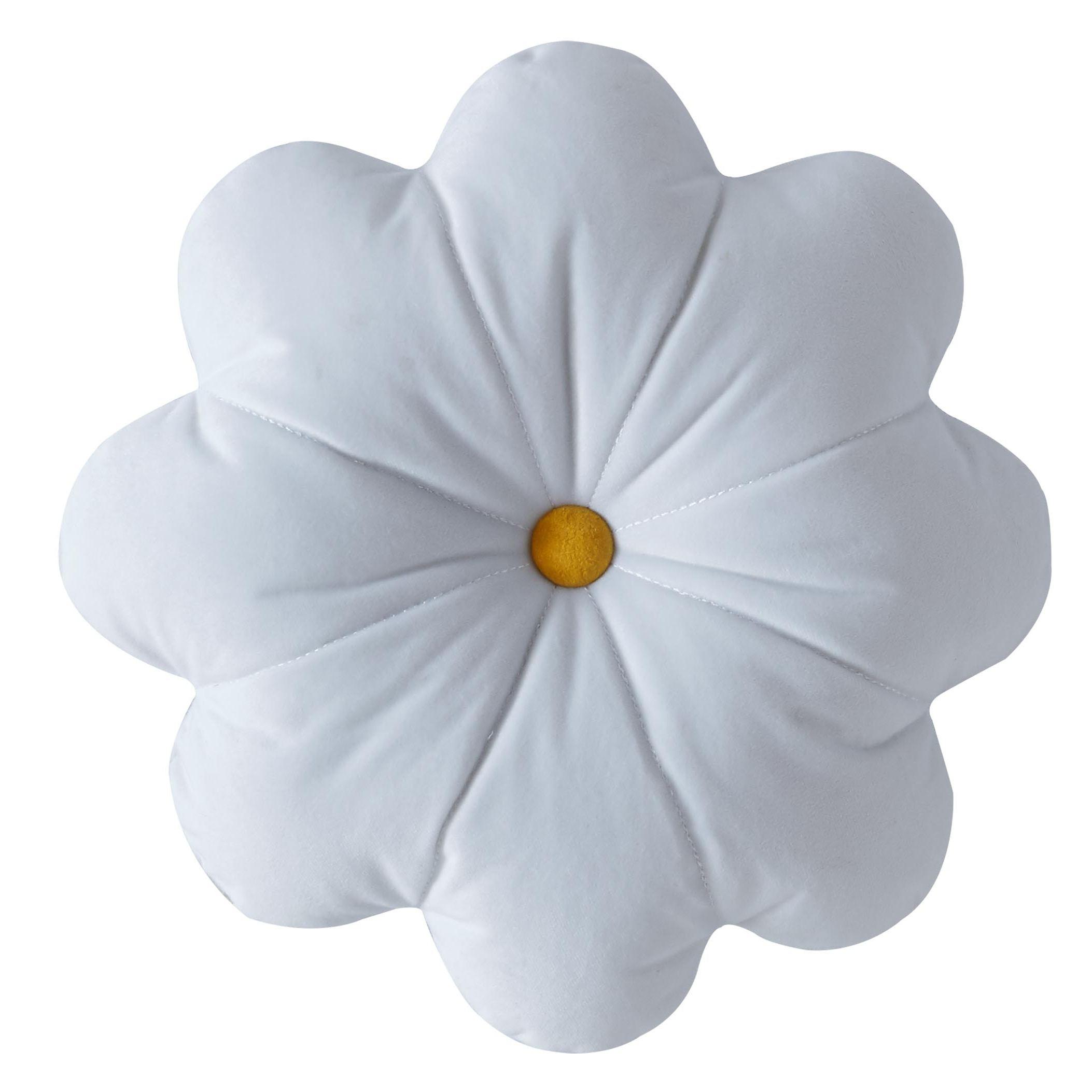 DAISY CUSHION 30x30cm - WHITE