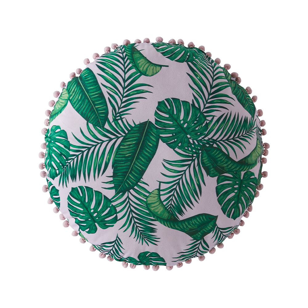 DOMINICA CUSHION ROUND - TEAL