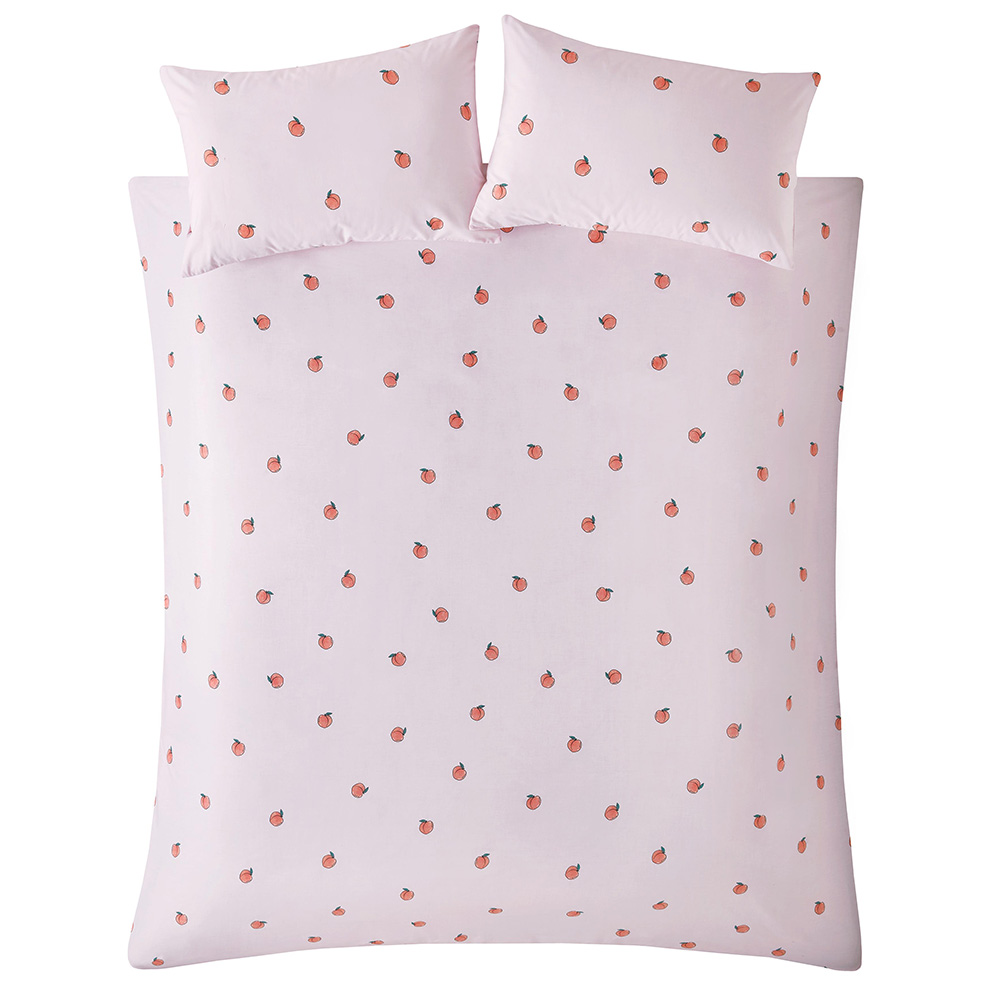PEACHY DOUBLE QUILT SET - PINK
