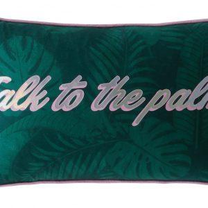 TALK TO THE PALM CUSHION 30x50cm - JADE
