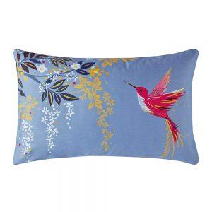 HUMMINGBIRD STANDARD PILLOWCASE PAIR - LIGHT BLUE