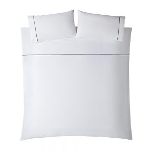 LUCIEN DOUBLE DUVET COVER - WHITE