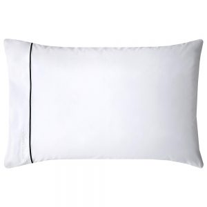 LUCIEN STANDARD PILLOWCASE PAIR - WHITE