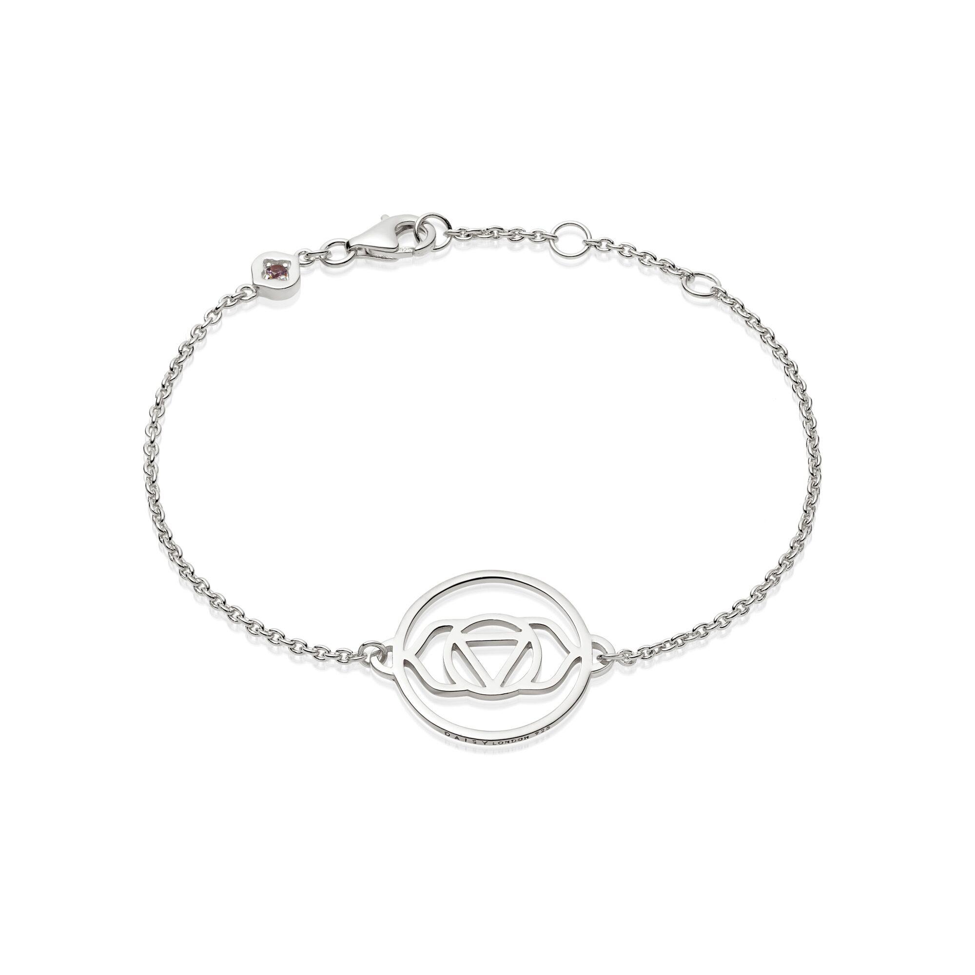 Brow Chakra Chain Bracelet - Silver