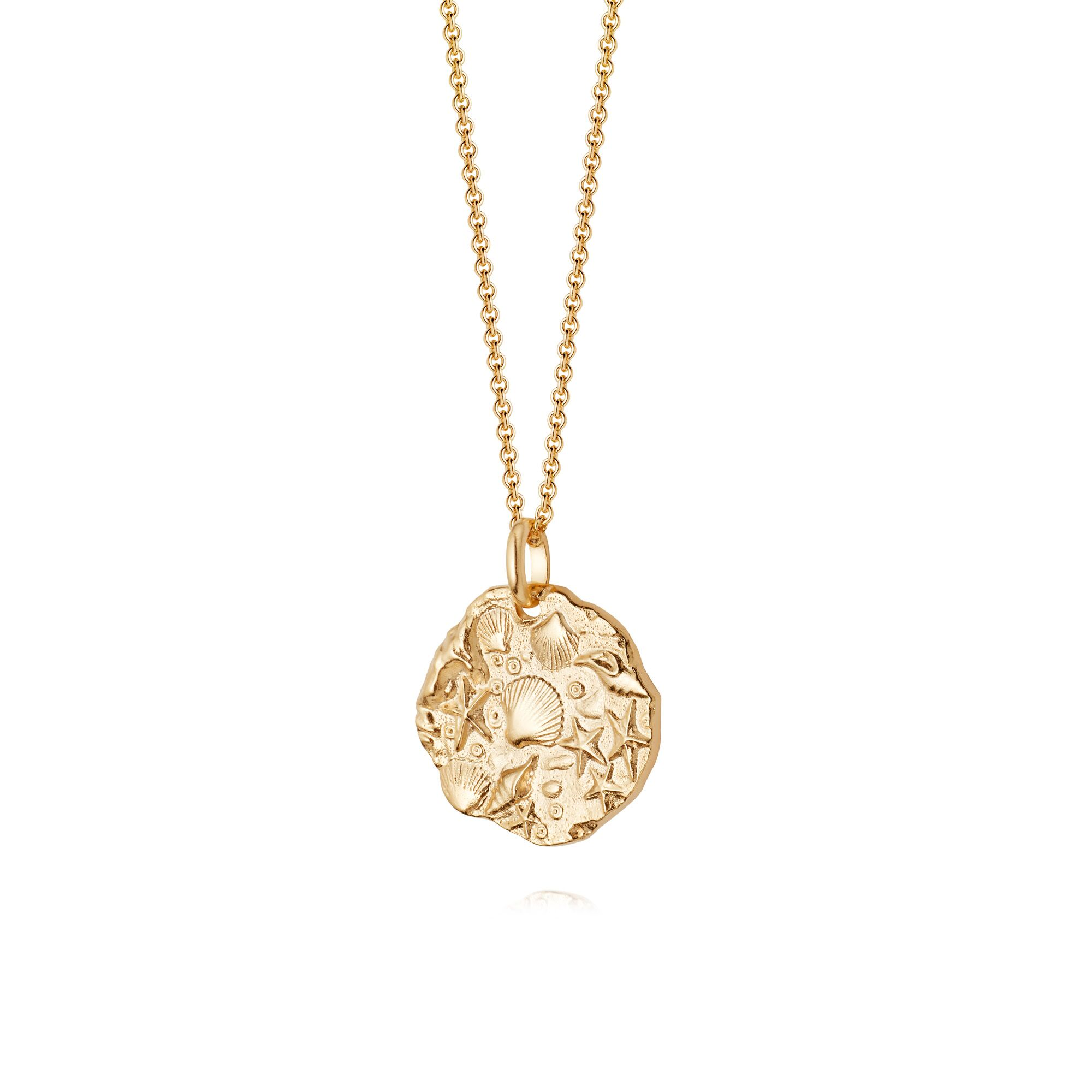 ISLA FOSSIL NECKLACE - GOLD