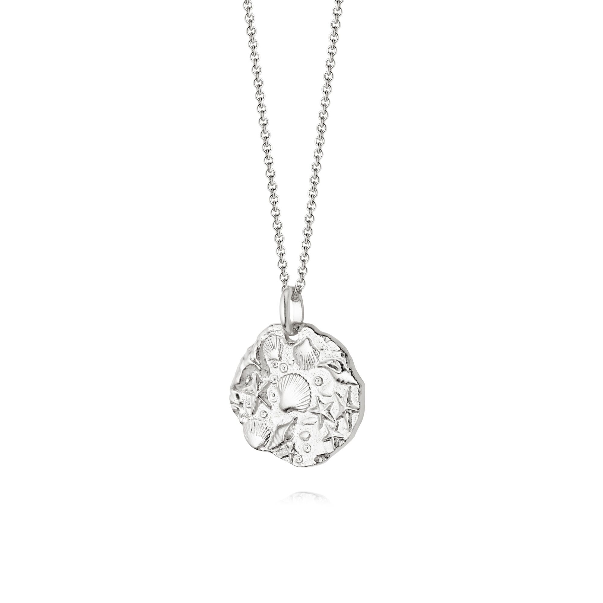 ISLA FOSSIL NECKLACE - SILVER