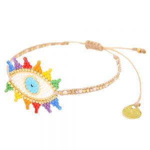 Rainbow Evil Eye Bracelet - Multi