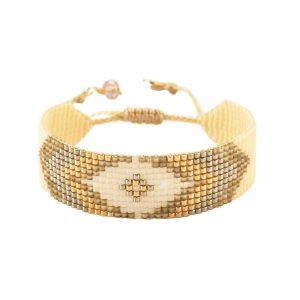 Peeky Thick Gold Bracelet - Beige